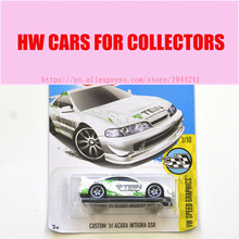 New Arrivals 2017 Hot Wheels 1:64 custom 01 acura ingetra gsr Metal Diecast Cars Collection Kids Toys Vehicle For Children(China)