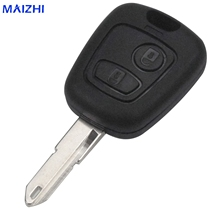 maizhi 2 Buttons Remote Key Fob Controller Shell for PEUGEOT 206 for Citroen NE73 Blade Shell Car-styling(China)
