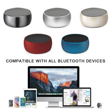Mini Portable Bluetooth Speaker Wireless Metal Round Box Speaker with Super Bass Sound GDeals(China)