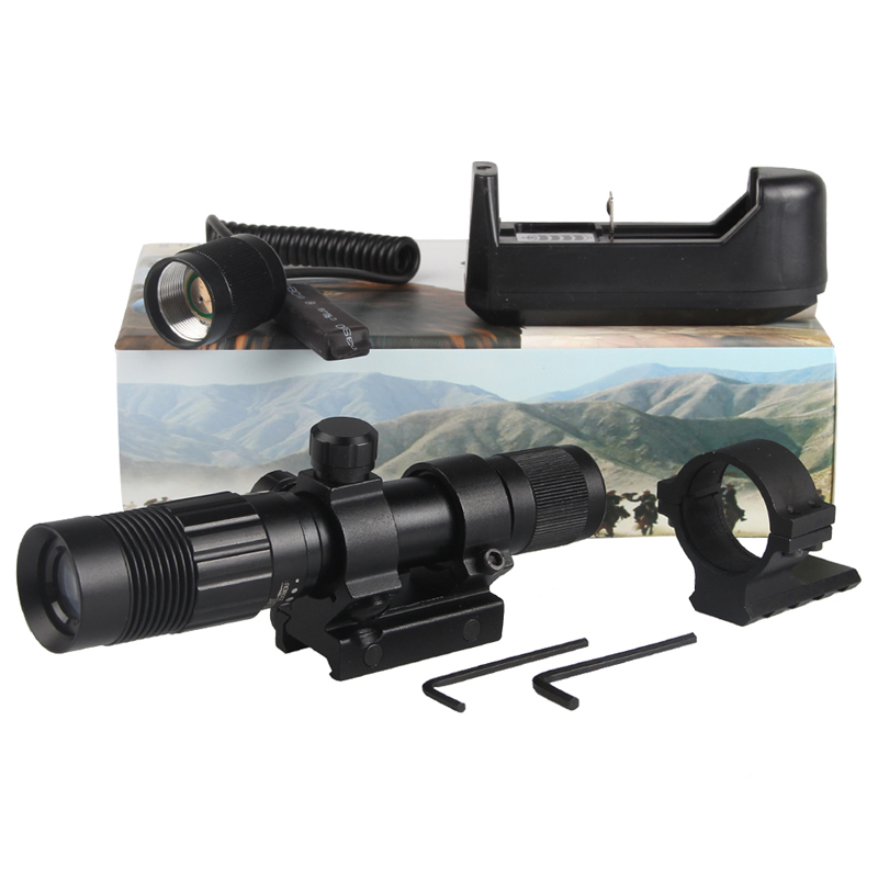 Night Vision Optics Adjustable Strong Green Laser Flashlight Illuminator Hunting Laser Sight Free Shipping RL8-0006G