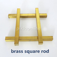 1pc J092 Brass Square Rod Model Car Carriage Connecting Rod Robot Making DIY Model Parts Free Shipping Russia(China)