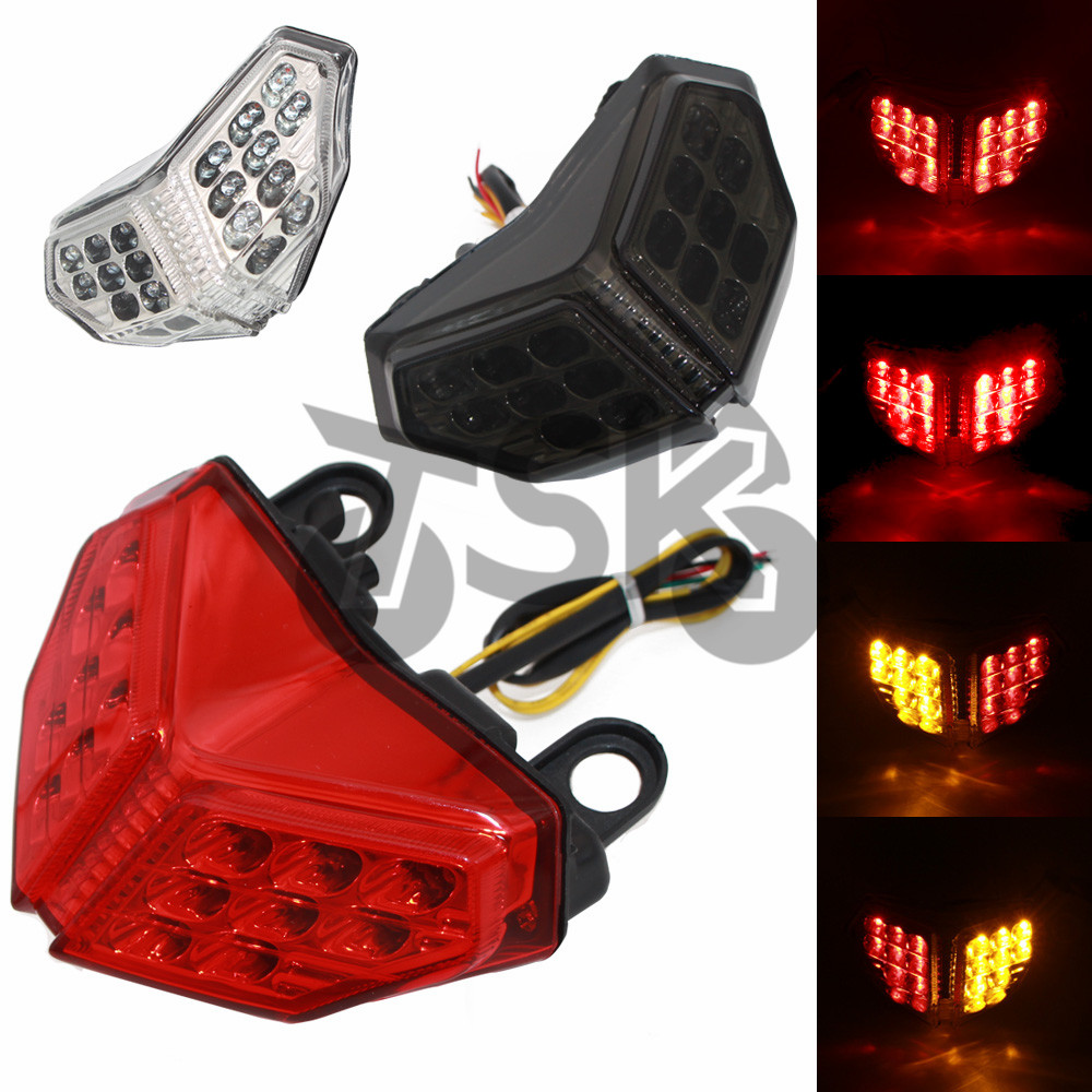 LED Motorcycle Taillight Ducati 848 1198 1098 Integrated for Brake-Turn-Signals title=