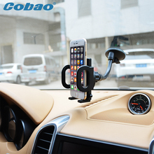 Universal mobile phone holder car windshield vacuum suction long arm mount holder stand for Iphone 5s 6 6s galaxy s4 s5 s6