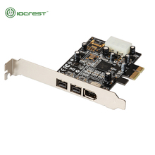 TI Chips PCI-E Combo 2x 1394b + 1x 1394a Firewire Ports PCI-Express Controller Card 1394 Card TI Chipset 6pin Cable Win10