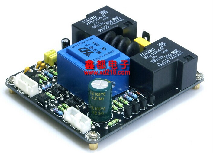 Class a amplifier power delay soft start temperature protection board<br>