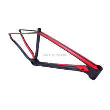 Hot sale !  MCA MTB Bike 29er Carbon Frame ,142 and 12mm thru axle MTB carbon frame 29 inch with painting