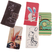 ABCTen Cartoon Design Case For WIKO Cink Five Mobile Phone Accessories Flip PU Leather Flip Cover Skin Protection Shell