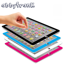 Abbyfrank Children Tablet Toys Multifuction Pad English Learning Machine Kids Laptop Study Puzzle Education Computer Toy(China)