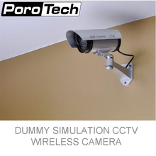P2100 Nice Dummy Fake Surveillance Security CCTV Dome Camera Indoor Outdoor with Red LED Light primary battery powered Look Real(China)