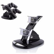 NoEnName_Null Black LED Light Quick Dual USB Charging Dock Stand Charger For PlayStation 3 For PS3 Controller Console