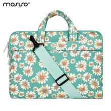 Mosiso Floral Print 11.6 13.3 15.6 inch Laptop Strap Messenger Bag for Macbook Air Pro 11 13 15 Acer Notebook Handbag briefcase