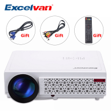 Excelvan LED96+ 3000Lumens Long life LED Full HD LED Home Cinema TV projector 3D LCD Multimedia Video Game Projectors PK GP90(China)