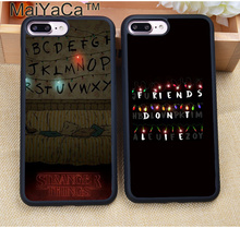 MaiYaCa Stranger Things Soft TPU Skin Cell Phone Case Accessories For iPhone 8 6 6S Plus 7 7 Plus 5 5S 5C SE 4S Back Cover Shell(China)