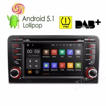 "7"" Quad Core Android 5.1 OS Special Car DVD for Audi A3 2003-2013 & Audi S3 2003-2013 with External TPMS System Support(China)"