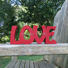 wood love sign shelf sitter or wall hanging choice of colors Free Shipping 10CM*20CM(China)