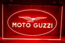 Moto Guzzi Motorcycle 2 size Bar Beer pub club 3d signs LED Neon Sign home decor shop crafts