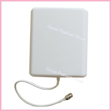 free shipping 10dBi Indoor Dual Band GSM/3G Wall Panel Antenna 800-2500Mhz for Cell Phone Signal Booster Repeater 4pcs/lot