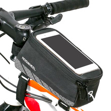 "Besegad 5.2"" 5.7"" Bicycle Handlebar Cycling Bag Phone Holder Bike Bag w/Touchscreen Capability Front Pocket Cellphone Pouch Case"