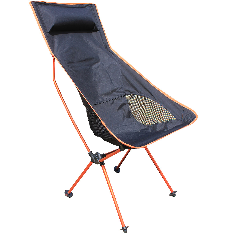 2016 New Orange Beach chairs Portable Folding Camping Stool Chair Max load bearing 150 kg silla plegable can adjust the height<br>