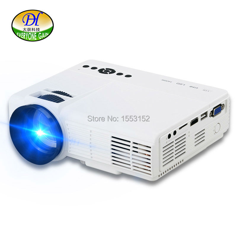 2017 Mini Projector Android Wifi LED Portable Projector For Home Cinema Video Support 64G Projecteur miniQQ HDMI VGA AV Beamer<br><br>Aliexpress