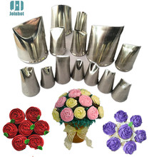 Baking tools  14 pcs  rose flowers nozzles Creative Icing Piping Nozzle Pastry Tips Sugar Craft Cake Decorating Tools