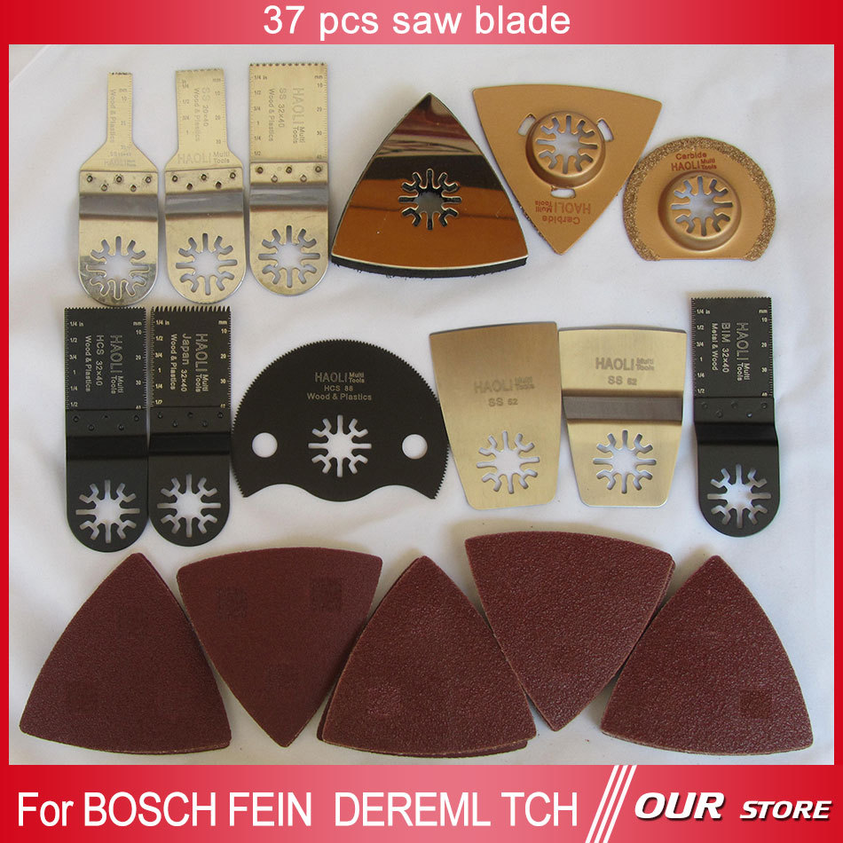 Hot sale 37 pcs oscillating tool saw blades accessories fit for multifunction electric tool as Fein power tool, TCH ,Dremel etc<br><br>Aliexpress