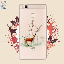KRY Christmas Phone Cases for Huawei P9 Lite Case Soft TPU Cases Santa Claus Patterned Cover For Huawei P9 Lite Case Capa Coque(China)