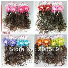 HJ0084 imitation wig hair Hair accessories for children girls Hairclip 4 pairs Newborn Baby/Toddler Headwear Ornament