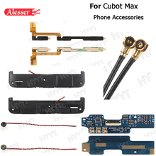 Alesser For Cubot max Phone Speakers Coaxial antenna Usb Flex Cable Speaker cable Power on volume key flex cable Phone Accessory(China)