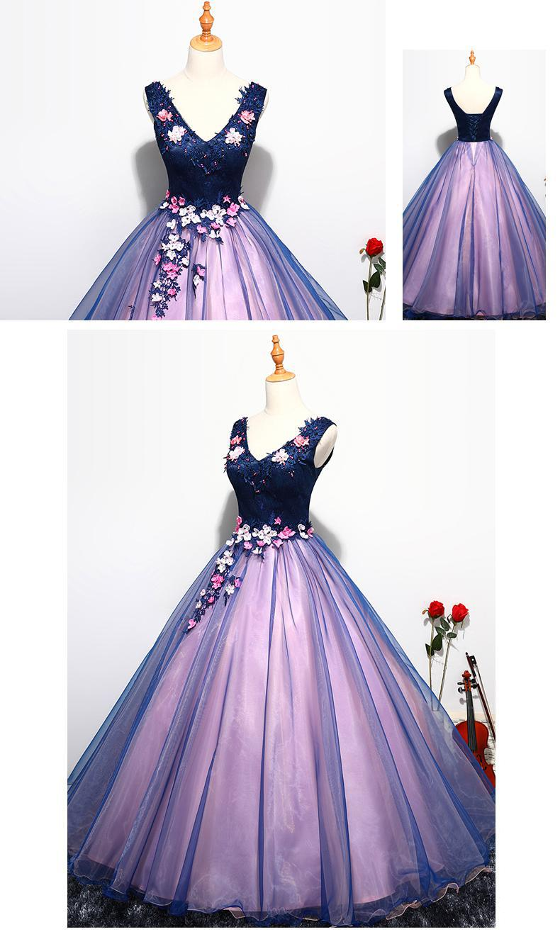 shop cheap Quinceanera Dress Prom Sleeveless Sexy V-neck Ball Gown