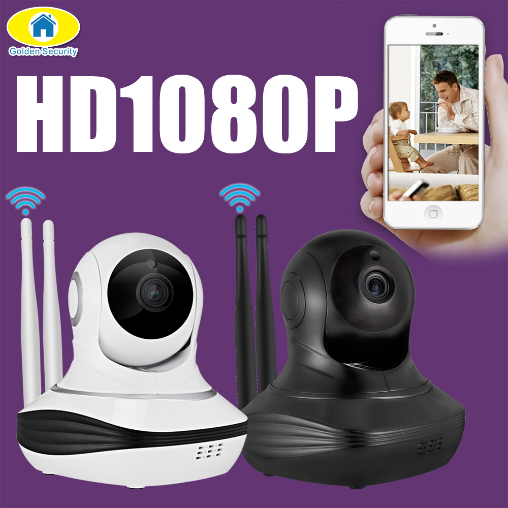 Golden Security Cloud Storage Wireless WiFi 1080P CCTV Surveillance Security IP Camera Pan/Tilt TF SD Card lot Baby Monitor<br>