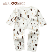 Spring & Autumn Newborn Baby Romper Casual Cartoon Breathable Baby Onesie Boys & Girls Clothes MOHOCAKO 100% Organic Cotton