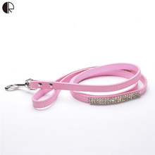 Fashion Pet Pu  Leather Dog Leash lead Designer Pet Dog Shops Supplies Cat Dog Collar Set Products HP766