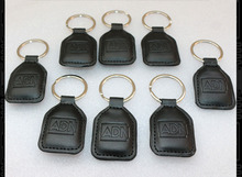 100PCS/LOT Leather Keychain keyfobs No. 1 IC card /IC cell dermis key buckle / access keys / RFID leather timecard