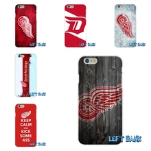 NHL Hockey Detroit Red Wings Silicon Soft Phone Case For HTC One M7 M8 A9 M9 E9 Plus Desire 630 530 626 628 816 820(China)