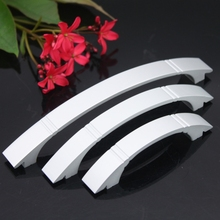 Aluminum Alloy Handles Double Holes Modern Minimalist Shoe Cabinet Drawer Door Handle High-grade Matte Handle-knobs