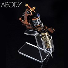 Acrylic Tattoo Machine Holder Stand Transparent Tattoo Supply Stand Rack Rest Organzier For Tattoo Gun(China)