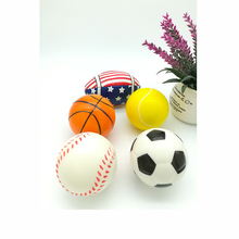 5pcs Baseball Basketball Soccer Shaped Baby Toy Hand Wrist Exercise Stress Relief Squeeze Soft Ball Toy Children Christmas gift