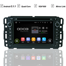 7 HD Car DVD Player Android 5.1 For GMC Yukon Savana Sierra Tahoe Acadia Denali Chevrolet Chevy GPS Radio BT RDS DVR MAP Wifi SD
