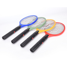 NEW 3 Layers Net Dry Cell Hand Racket Electric Swatter Home Garden Pest Control Insect Bug Bat Wasp Zapper Fly Mosquito Killer(China)