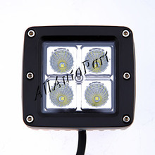 10pcs 2016 New 3.3inch 4 led 16W Cr ee chip LED work light with cover Truck Trailer SUV Off road Boat ATV tractor working lamp