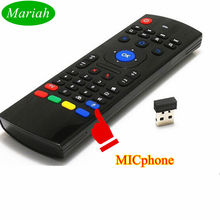 Best TV BOX Mini Remote Control MX3 with Micphone Original MXiii Wireless 2.4GHz Fly Mouse Keyboard for Media Player Dongle PC(China)
