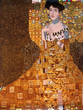 Wholesale Women Portrait Oil Painting Reproductions Portrait of Adele Bloch-Bauer I, 1907 by Gustav Klimt Paintings for Bedroom(China)