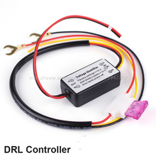 DRL Controller Daytime Running Light Relay Harness Dimmer On/Off Switch 12V 2016 Car styling Auto Fog Light Register Air Mail(China)