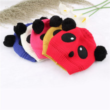 1x Lovely Animal Panda Baby Hats And Caps Kids Boy Girl Crochet Beanie Hats Winter Cap For Children To Keep Warm Hot Sale(China)