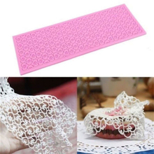 Silicone Lace Mat Cake Lace Mold Silicone Sugar Lace Mat Fondant Embossed Mold Cake Decorating Mould Baking Tool(China)