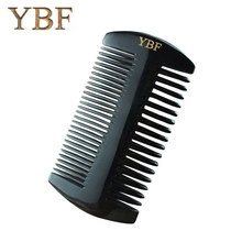YBF Black Buffalo Horn Combs Natural Thickness Width and Intensive Tooth Tibet Heathy Antistatic Lovely Boutique Hair Brushes(China)