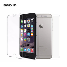 Baixin 2Pcs Front + Back Tempered Glass For iPhone 4 4s 5 5s 5c 6 6s 6plus 6splus Rear Screen Protector For iPhone 6 7 plus Film(China)