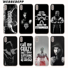 Buy WEBBEDEPP Bodybuilding Gym Fitness Hard Cover Case iPhone 8 7 6S Plus X/10 5 5S SE 5C 4 4S for $1.49 in AliExpress store
