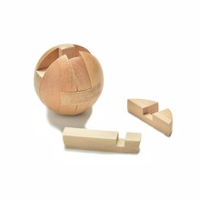 3D Ball Toys Funny Educational Puzzles Ming Lock Brain Teaser Game Wooden Toys